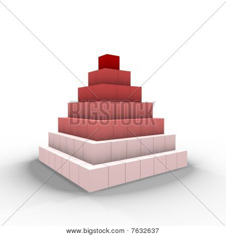 A pyramid of cubes - a 3d image