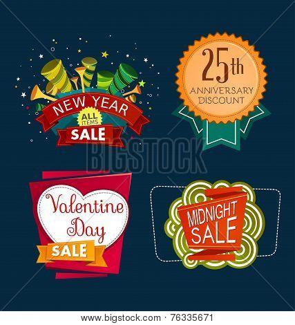 various sale event tittle