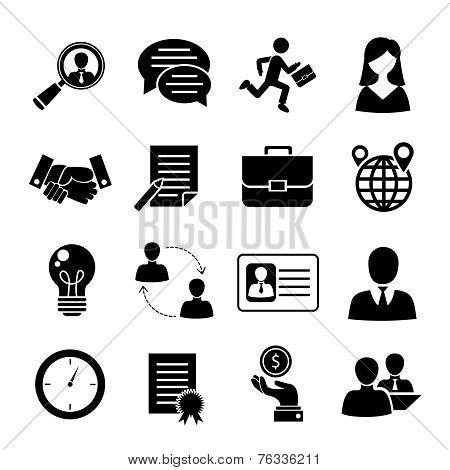 Job interview set