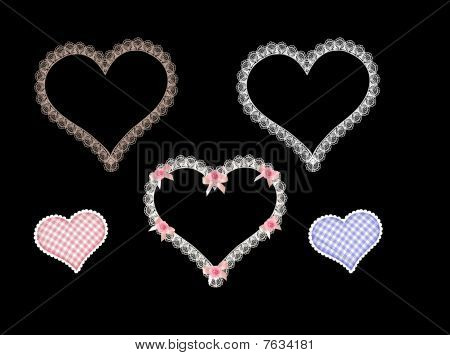 lace heart vector