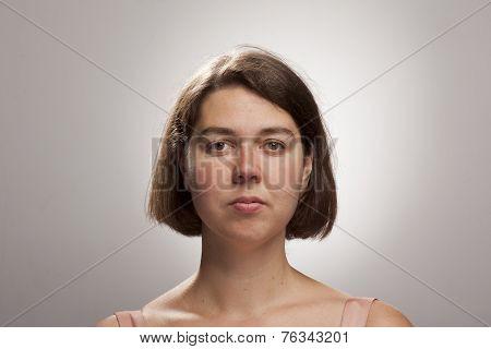 Extensive Study Of Portrait Studio Lighting, Natural Woman Face