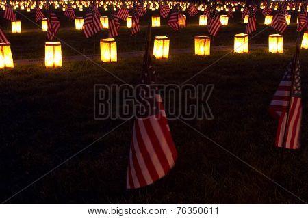 Flags At Gettysburg Luminary