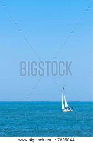 Sailboat On Pacific Ocean