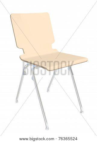 Stackable Plastic Chair, 3D Illustration