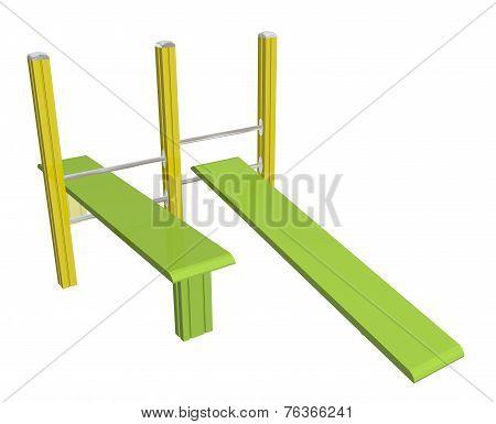 Sit-up Boards, 3D Illustration