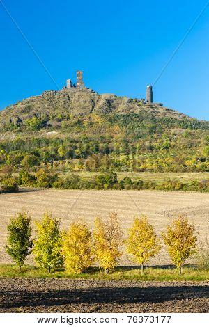 ruins of Hazmburk Castle, Ceske stredohori, Czech Republic