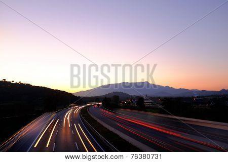 Sunset On Buzy Highway