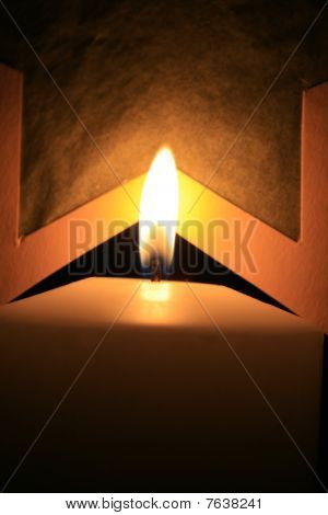 Burnin Candle With Star