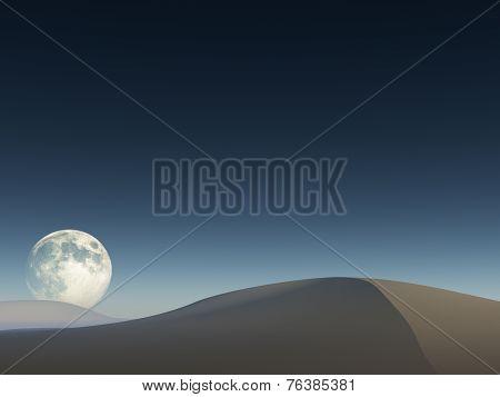 Moon Over Sand Drifts