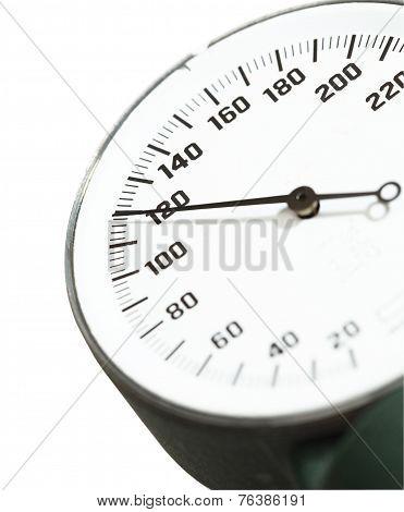 Blood Pressure. Normal Figure. Fragment Of Medical Manometer.