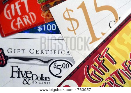 Gift Certificates and Gift Cards