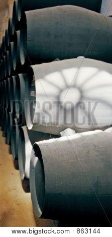 Wine Barrels At Jerez Bodega