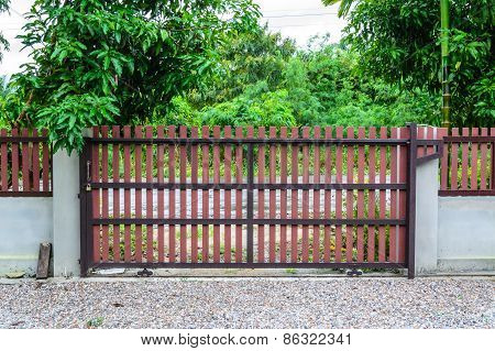 Home Gate From Artificial Wood