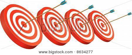 On target arrows