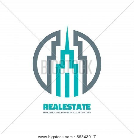 Real estate - vector logo concept illustration. Building logo. Vector logo template. Design element.