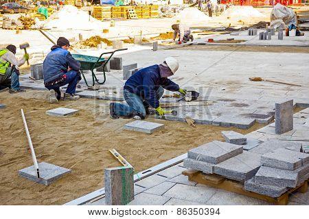 Pavers At Work