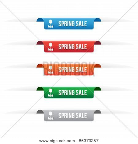 Spring Sale Paper Tag Labels