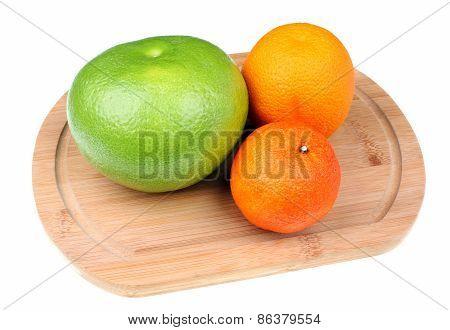 Green Grapefruit Sweetie, Mandarin And Orange