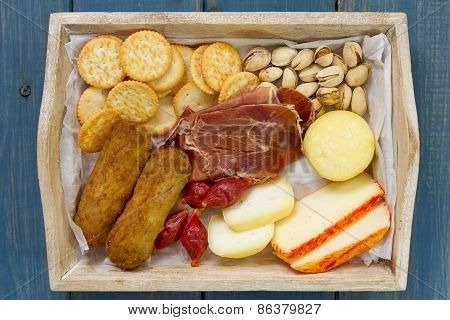 Cheese With Cookies And Meat Croquete