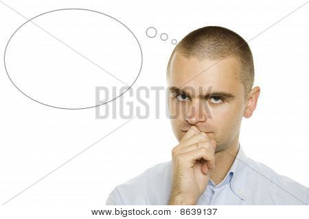 Businessman air thoughts