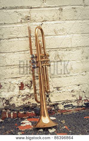 Old Trumpet Brick Wall