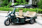 """THAILAND - motorized three-wheelers """"Samlaw"""" (Tuk-Tuk) was renamed by the tourists because the engine sounds to be """"Tuk-Tuk"""" poster"""