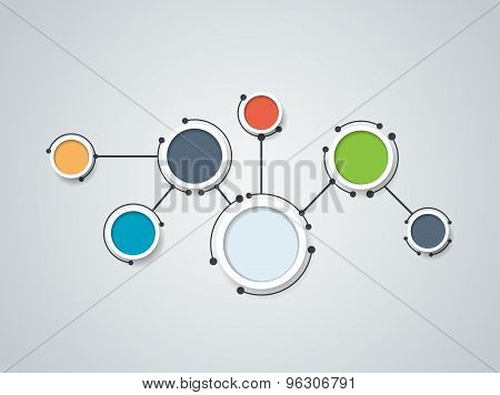Vector illustration of abstract molecules and communication