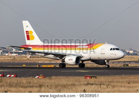 Airbus A318 Of The Iberia Airline