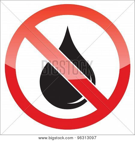 Water forbidden icon