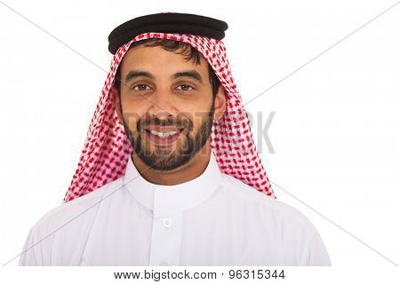 close up portrait of young muslim man