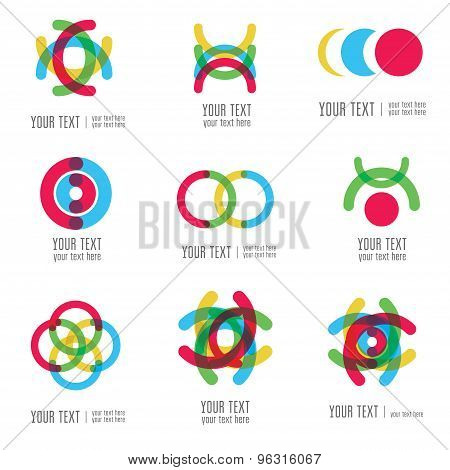 Vector Set Of Modern Abstract Forms Logos