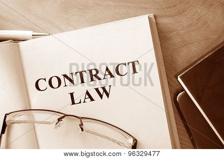 Note with words  contract law.