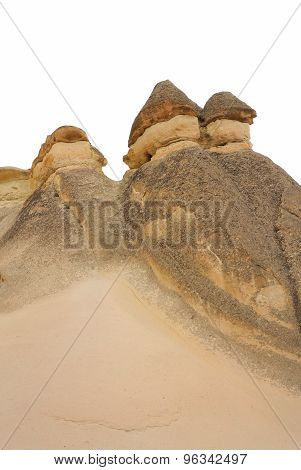 Fairy Chimneys In Cappadocia Isolated