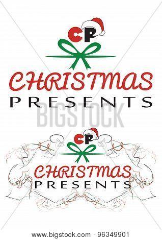 Christmas Presents logo, vector EPS file fully editable