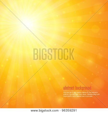 Background With Shiny Sunbeams