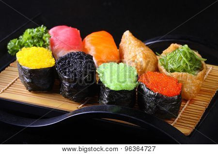 Colorful Sushi and Sushi rolls