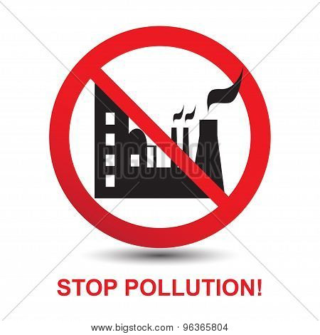 Stop Pollution Icon