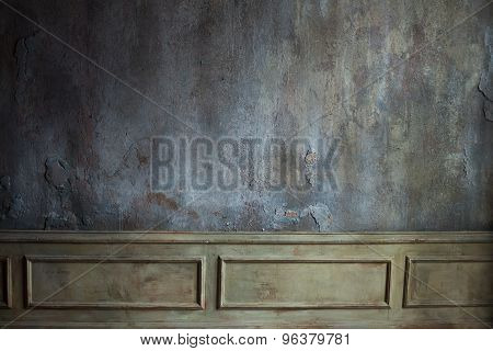 concrete wall. grunge metallic interior