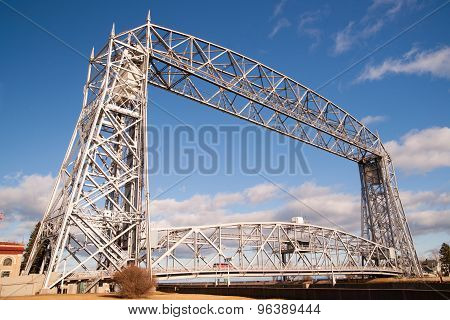 Aerial Lift Bridge Duluth Harbor Lake Superior Minnesota Wisconsin