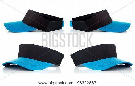 Group Of Light Blue Tennis Cap,