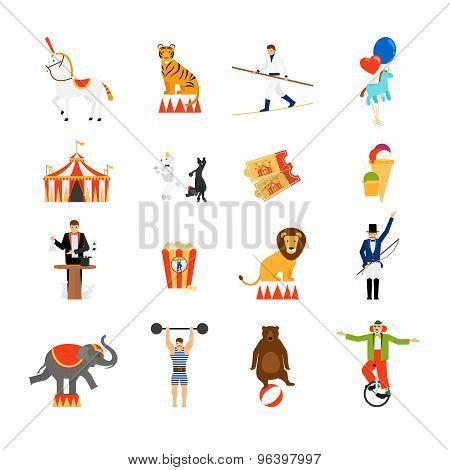 Circus flat icons