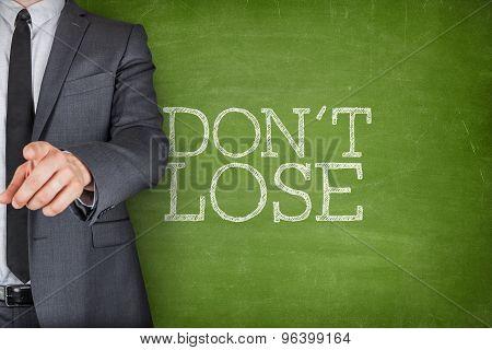 Dont lose on blackboard
