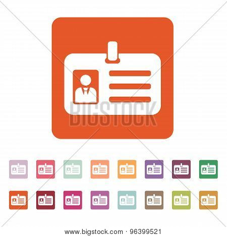 The accreditation icon. Admission and badge, identification, pass symbol. Flat Vector illustration. Button Set poster