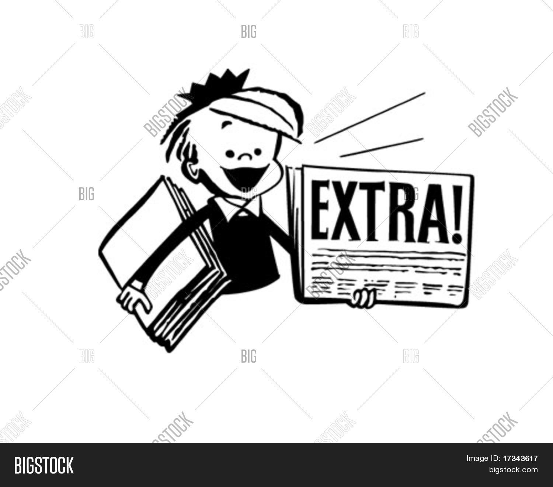 newspaper boy - retro vector & photo (free trial) | bigstock