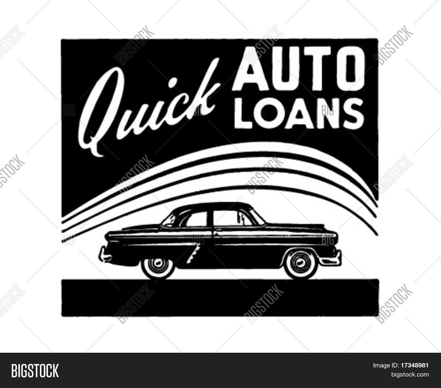 Quick Auto Loans - Retro Ad Art Vector & Photo | Bigstock