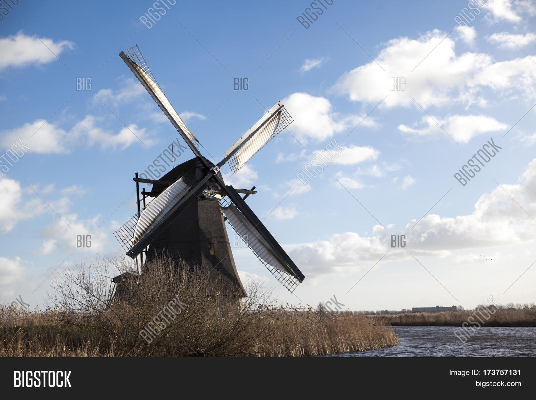 Old Dutch Windmills Image Photo Free Trial Bigstock