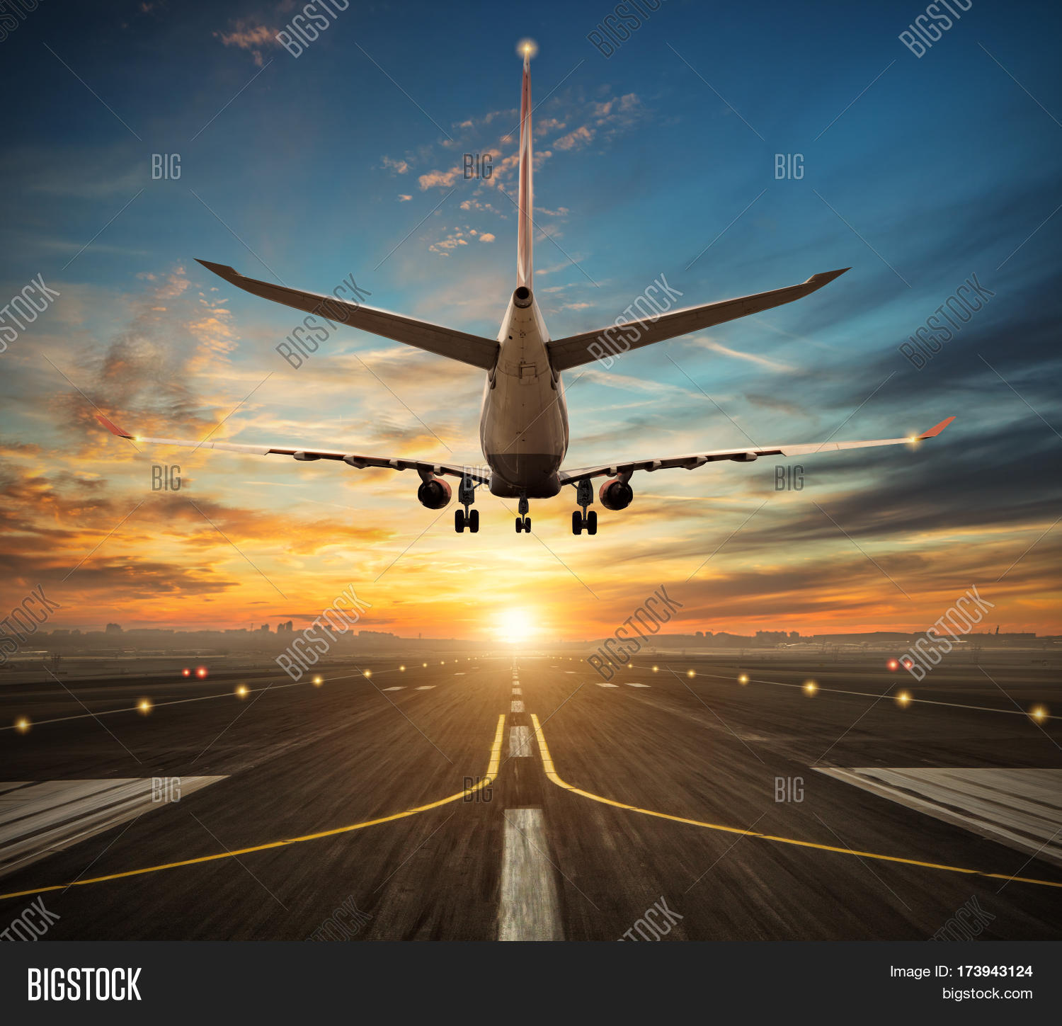 Passengers Airplane Image & Photo (Free Trial)