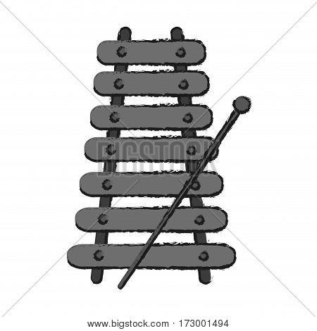 metallic xylophone icon image vector illustration design