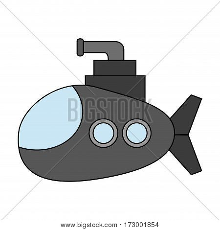 cartoon submarine icon image vector illustration design