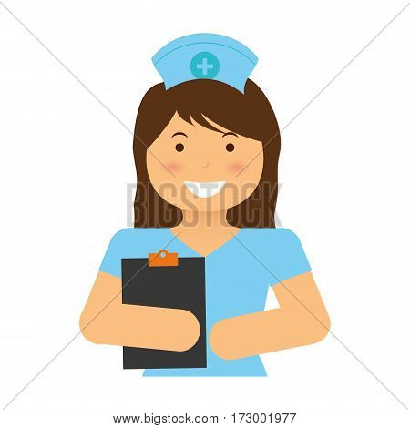 Nurse medical profession icon vector illustration graphic design